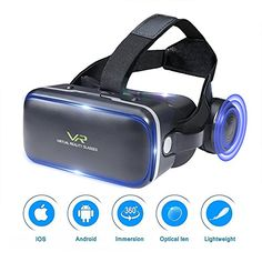 Rock Space VR Box Virtual Reality 3D Glasses Universal Headset Gaming Video with Adjustable Lens and Strap