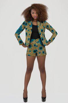 Shorts stampa africana