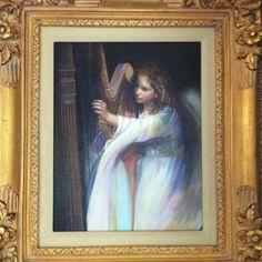 Angel with Harp by Nancy Noel