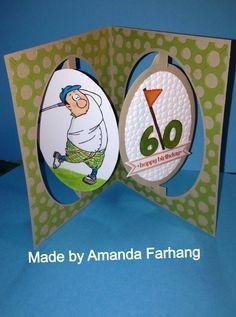 Gordon Golfer Set (Sku#4325) Art Impressions Ai People.  Handmade masculine sports birthday card.