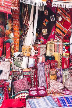 textiles, Chefchaouen, Morocco