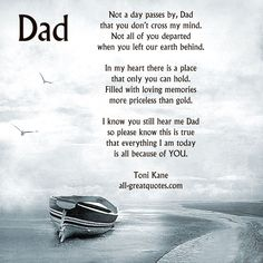still i can't believe u are gone dad. love u xxx