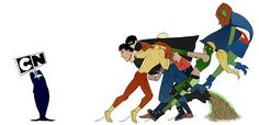 Young Justice. Haha I wish. But DC Comics and Cartoon Network would totally deserve it for getting rid of them right after a 6 month hiatus.