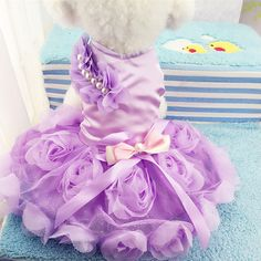 New Lovely Dog Dress Puppy Wedding Dresses for Small Dog Clothes Princess Skirt Teddy Yorkie Pet Apparel #Affiliate