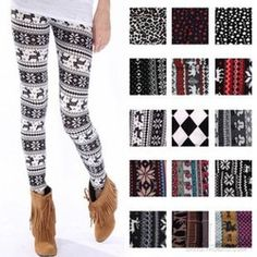 Online Shop Free shipping new arrival autumn and winter onta leopard print legging female long trousers plus size Christmas deer Leggings Aliexpress Mobile