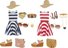 Stripes and Platforms for Two, created by jillian-kirsten-hunt on Polyvore