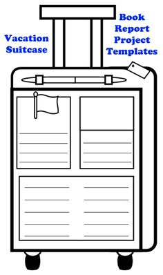 This uniquely shaped Main Character Vacation Suitcase book report project contains assembling directions, first draft worksheets, final draft templates, grading rubric, and a bulletin board banner. Book Report Projects, Book Projects, Travel Activities, Writing Activities, Country Report, Book Report Templates, Reading Themes, Maine, Teacher Boards