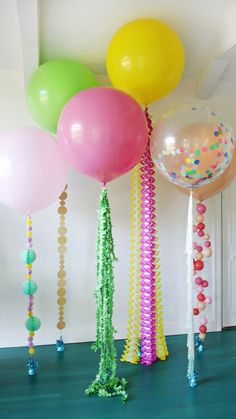 Balloons and Tassel Tails