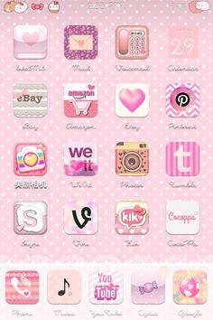 Cocoppa Pastel Pink iPhone Scheme~ (Jailbroken)