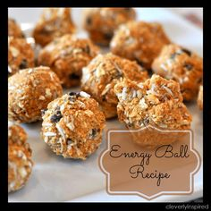 Energy Ball Recipe: Baking with Sunsweet Dried Plums Plum Amazins Healthy Treats, Healthy Desserts, Healthy Recipes, Healthy Food, Clean Recipes, Healthy Eating, Baking Recipes, Snack Recipes, Cake Recipes