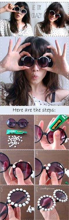 Festival sunglasses - shop our range of buttons, flowers and craft supplies to design your own glasses http://shop.vibesandscribes.ie/
