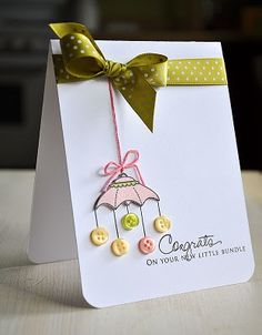 Button mobile baby card. This card its freaking adorable!