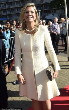 Queen Maxima of The Netherlands visited the 10th anniversary of foundation Piezo in Zoetermeer