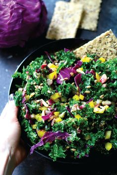 Nutritious, dark leafy greens take center stage in this recipe for an Easy Kale Salad. In just 15 minutes you can be enjoying the combination of fresh vegetables and sweet mustard flavor—how easy is that?
