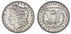 1 US DOLLAR/1 DÓLAR MORGAN. Ag. PHILADELPHIA-FILADELFIA. 1887. VF+/MBC+.