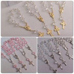 24 Mini rosaries approximately long- Baptism favors - first communion favor-mini rosaries- baptism favors- communion favor Baptism Themes, Baptism Favors, Baptism Party, Baptism Ideas, Baptism Cakes, Baptism Gifts, First Communion Favors, Première Communion, First Holy Communion