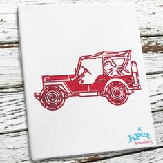 "Jeep Embroidery Designs  You get 2 sizes: 5"" and 6"""