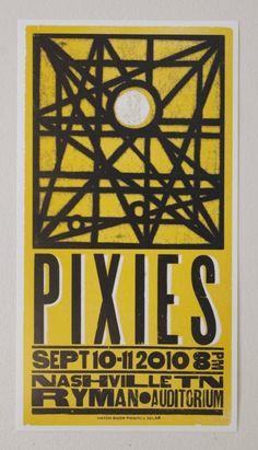 Pixies 2010 Hatch Show Print Letterpress Poster