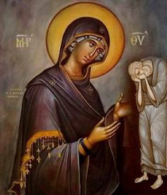Byzantine Iconography - The Virgin Mary Byzantine Art, Byzantine Icons, Religious Icons, Religious Art, Madonna, Greek Icons, Art Icon, Orthodox Icons, Blessed Mother