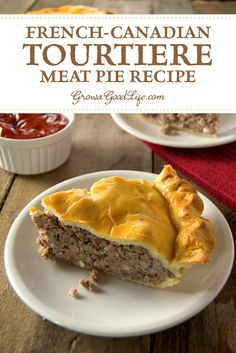 Tourtière is a delicious meat pie recipe past down by generations of French-Canadian families throughout Canada and New England. It is made from a combination of ground meat, onions, savory seasonings, and baked in a traditional piecrust. #meat-pie #tourtiere
