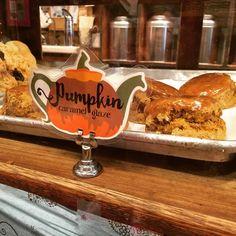 "Probably one of my favorite ""pumpkin season"" foods: the pumpkin scone at Alice's Tea Cup! @alicesteacupnyc #pumpkinperfection"