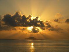Sunrise over Buck Island, St. Croix USVI
