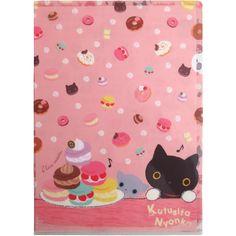 San-X A4 Folder: Kutusita Nyanko Sweets