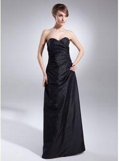 Bridesmaid Dresses A-Line/Princess Sweetheart Floor-Length Taffeta Bridesmaid Dresses With Ruffle  Beading (007001051)