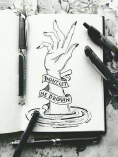 Drown - bring me the horizon music drawings, dark drawings, sketchbook drawings, cool Sad Drawings, Music Drawings, Sketchbook Drawings, Drawing Sketches, Pencil Drawings, Drawings With Meaning, Sketching, Desenho Tattoo, Sad Art