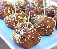 Curry and Comfort: Hoisin-Honey Glazed Cocktail Size Meatballs