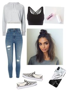 """""""Untitled #128"""" by haileymagana on Polyvore featuring Frame, River Island, Vans and Pepper & Mayne"""