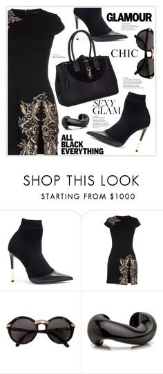 """All Black Everything"" by stranjakivana ❤ liked on Polyvore featuring Balmain, Dsquared2, Cartier, Hill & Friends, allblack and polyvoreeditorial"