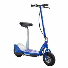 Razor Rechargeable Cushioned Seat Electric Motorized Scooter, Blue at Lowe's. Sitting down has never been this much fun! Built with fun in mind, the Razor Electric Scooter features a detachable seat for easy cruising. Triumph Motorcycles, Ducati, Motocross, Mopar, Chopper, Style Geek, Scooter Tuning, Scooter Bike, Lamborghini
