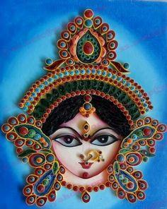 Durga Devi quilling.....