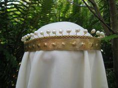 Regal ,Elegant Queen Guinevere crown, circlet, pearl adorned by SpiritoftheGoddess on Etsy https://www.etsy.com/listing/74767609/regal-elegant-queen-guinevere-crown