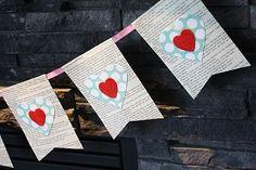 easy valentine's garland.