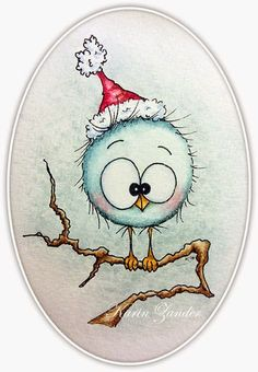 not Crazy Bird stamps but I like the coloring Christmas Rock, Christmas Crafts, Christmas Ornaments, Christmas Clipart, Vintage Christmas, Illustration Noel, Christmas Illustration, Crazy Bird, Christmas Drawing