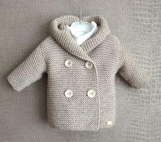 Strickjacken - ♥ Baby-Strickjacke Duffle Gr. 0-6 Monaten♥ - ein Designerstück von looop bei DaWanda