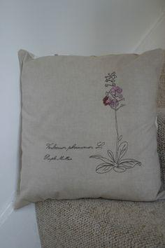 Wild Flower Embroidered Cushion £22.00