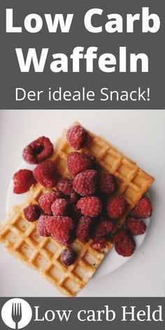 Lecker, einfach und Low carb. Probier die neuen Low Carb Waffeln! Low Carb Desserts, Stevia, Waffles, Snacks, Held, Breakfast, Waffle Iron, Healthy Food, Food Portions
