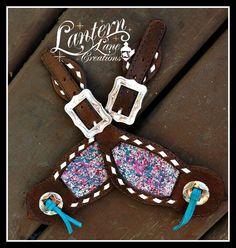 custom buckstitched spur straps