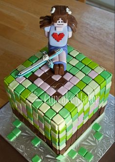 Minecraft cake for a sweet little girl! | Cakes Made by Me ...