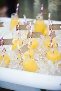 Drinks from a First Birthday Garden Party via Kara's Party Ideas | KarasPartyIdeas.com (16)