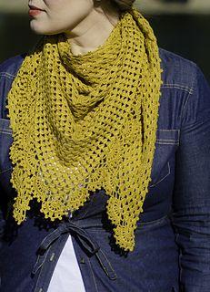 Gilded Crochet Shawl pattern on Ravelry