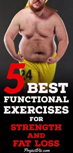 Are you looking to #loseweight and build #strength and #muscle but are getting tired of your current #workout #exercises? Well, try the 5 Best Functional Exercises For Strength and Fat Loss! #StrengthTraining #bodybuilding #crossfit #fatloss #ProjectVis