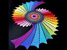 Variedad de alfombras tejidas a crochet paso a paso