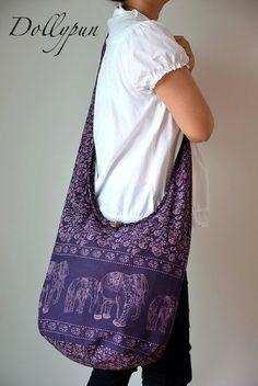 Nepali hippie style handbag Cross body bag Boho by Dollypun