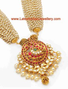 pearls necklace Kundan Pendant
