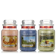 Yankee Candle Set of 3 USA Special Large Jars