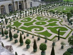 Garden at the Castle Versille, France